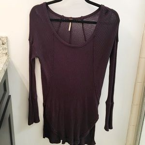 Free People Thermal Knit Tunic Style Top